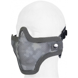 UK Arms Airsoft Tactical Metal Mesh Half Mask - ACU PRINT