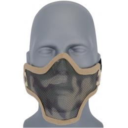 UK Arms Airsoft Tactical Metal Mesh Half Mask - DESERT CAM