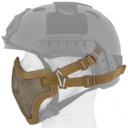 UK Arms Airsoft Tactical Metal Mesh Half Mask Helm Vers- TAN/SKULL