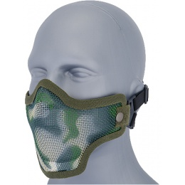 UK Arms Airsoft Tactical Metal Mesh Half Mask - JUNGLE CAM