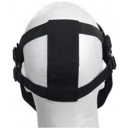 UK Arms Airsoft Tactical Metal Mesh Half Mask - JUNGLE CAM