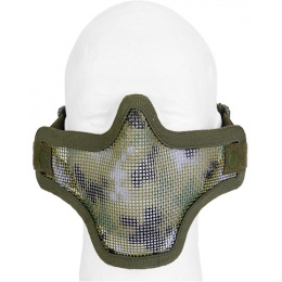 UK Arms Airsoft Tactical Metal Mesh Half Mask - JUNGLE DIGI