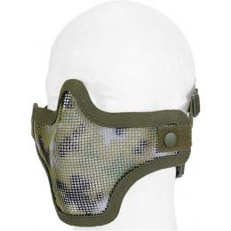 UK Arms Airsoft Tactical Metal Mesh Half Mask - JUNGLE DIGI