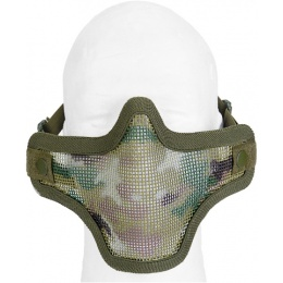 UK Arms Airsoft Tactical Metal Mesh Half Mask - MODERN CAM