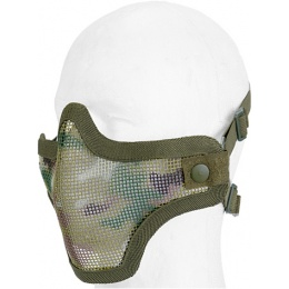 UK Arms Airsoft Tactical Metal Mesh Half Mask - MODERN CAM