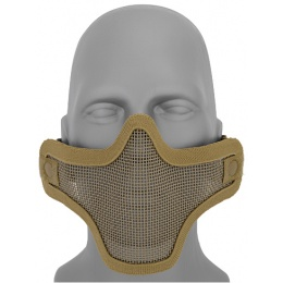 UK Arms Airsoft Tactical Metal Mesh Half Mask - TAN