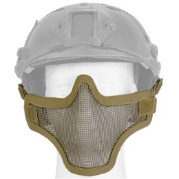UK Arms Airsoft Tactical Metal Mesh Half Mask Helm Vers - TAN