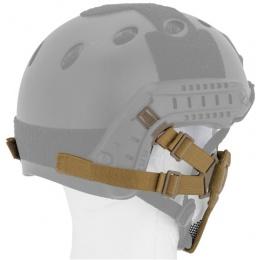 UK Arms Airsoft Tactical Metal Mesh Half Mask Helm Vers - TAN
