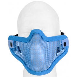 UK Arms Airsoft Tactical Metal Mesh Half Mask - BLUE