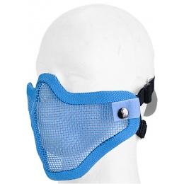 UK Arms Airsoft Tactical Metal Mesh Half Mask - BLUE