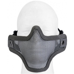 UK Arms Airsoft Tactical Metal Mesh Half Mask - GRAY