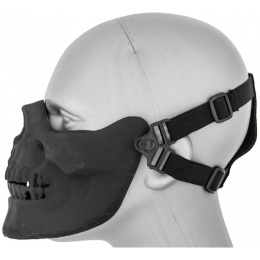 UK Arms Airsoft Tactical Skull Lower Half Face Mask - BLACK