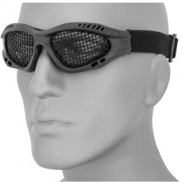UK Arms Airsoft Zero Wire Mesh Safety Shooting Goggles - BLACK