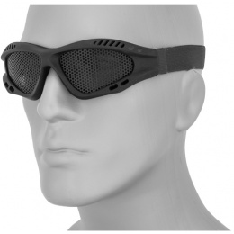 UK Arms Airsoft Zero Steel Safety Shooting Goggles - BLACK