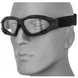 UK Arms Airsoft Zero Clear Safety Shooting Goggles - BLACK