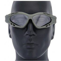 UK Arms Airsoft Zero Clear Safety Shooting Goggles - OLIVE DRAB