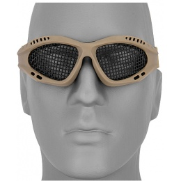 UK Arms Airsoft Zero Wire Mesh Safety Shooting Goggles - TAN