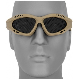 UK Arms Airsoft Zero Steel Safety Shooting Goggles - TAN