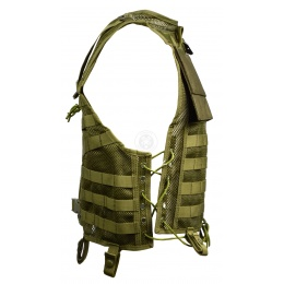 AMA 600D MOLLE Mesh Airsoft Vest - OD GREEN