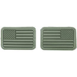 AMA Airsoft U.S. Flag Forward/Reverse Patch Set - OLIVE