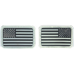 AMA Airsoft U.S. Flag Forward/Reverse Patch Set - BLACK/WHITE