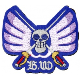 UK Arms Airsoft Hook and Loop Base Baroque Works Patch - BLUE/WHITE