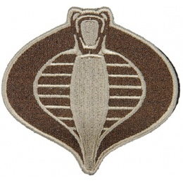 UK Arms Airsoft Hook and Loop Base Cobra Patch - TAN