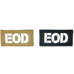 UK Arms Airsoft Hook and Loop Base EOD (2) Patch Set - TAN/BLACK