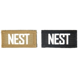 UK Arms Airsoft Hook and Loop Base NEST (2) Patch Set - TAN/BLACK