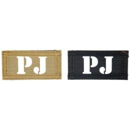 UK Arms Airsoft Hook and Loop Base PJ (2) Patch Set - TAN/BLACK
