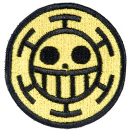 UK Arms Airsoft Hook and Loop Base Trafalgar Law Patch - BLACK/YELLOW