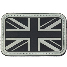 UK Arms Airsoft Hook and Loop Base UK Flag Glow-in-the-Dark Patch