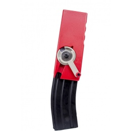 Odin Innovations Airsoft M4/M16 Mag M12 Sidewinder Speed Loader - RED