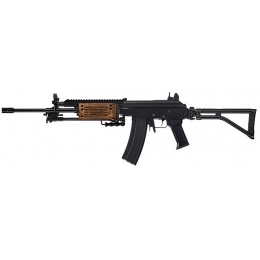ICS Airsoft Galil ICAR AEG GRM Full Metal w/ Wood Handguard - BLACK