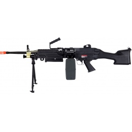 A&K Airsoft M249 MKII Full Metal Machine Gun AEG Rifle - SAW - BLACK