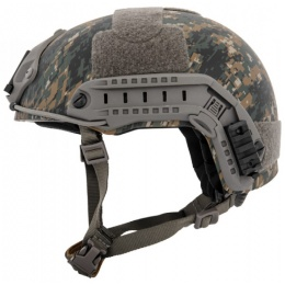 Lancer Tactical Ballistic MH Type Tactical Helmet - DIGITAL WOODLAND