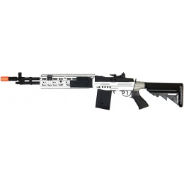 CYMA Airsoft M14 EBR AEG Full Metal w/ Crane Stock - BLACK/SILVER