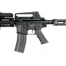 ICS Airsoft M4 AEG w/ RAS Tactical Folding Stock - BLACK