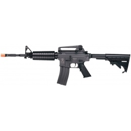 ICS Airsoft M4A1 AEG Assault Carbine Rifle w/ LE Stock - BLACK