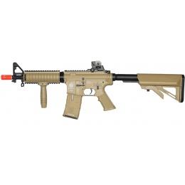 ICS M4 RIS Commando Sportline Airsoft AEG Rifle w/ Crane Stock - TAN