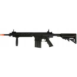 A&K Airsoft SR25K AEG Long Barrel Top Rail Version - BLACK