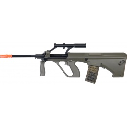 JG Airsoft Full Metal Gearbox AEG Rifle w/ Integrated Scope