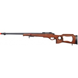 Well Airsoft MB09W Bolt Action Rifle w/ Fluted Barrel - WOOD