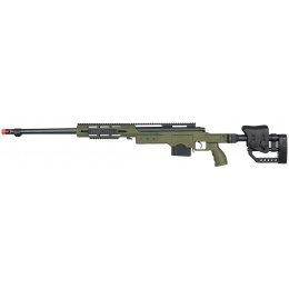 Well Airsoft Bolt Action Rifle w/ Fluted Barrel - OLIVE DRAB GREEN