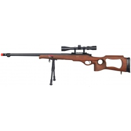 Well Airsoft MB09WAB Bolt Action Rifle w/ Fluted Barrel, Scope, Bipod