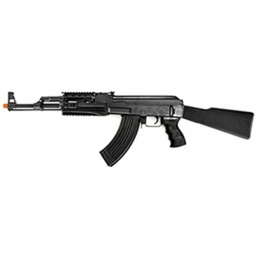 CYMA Airsoft AK47 Tactical AEG RIS Full Metal Fixed Stock - BLACK