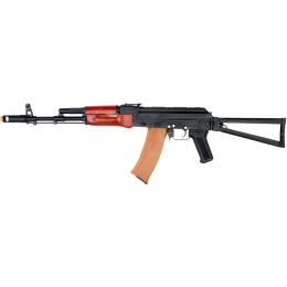 DBOYS Airsoft AKS-74 AEG Full Metal w/ Folding Stock - BLACK/ WOOD