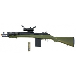 AGM M14 SOCOM RIS Airsoft Sniper Rifle w/ Flashlight and Scope - OD