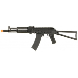 Lancer Tactical Airsoft AKS-104 AEG Full Metal Folding Stock - BLACK