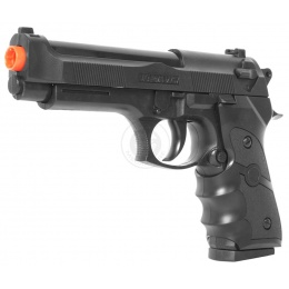 Double Eagle M9 Airsoft Spring Pistol w/ Ergonomic Grip - BLACK